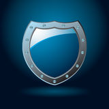 Blue shield blank Stock Images