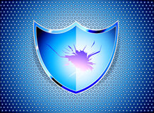 Blue shield Royalty Free Stock Image