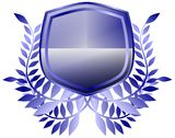Blue shield Royalty Free Stock Photo