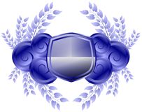 shield with floral decoration isolated Royalty Free Stock Photography