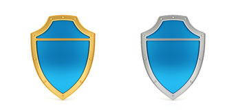 Blue shield Royalty Free Stock Photos