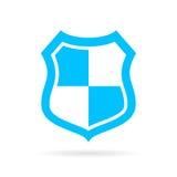 Blue shield vector icon Stock Photography