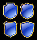 Blue shields Royalty Free Stock Photos