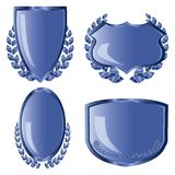 Blue shields  Stock Photo