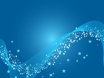 Blue shimmering wave background Royalty Free Stock Photos