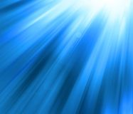Blue shine - abstract background. Rays Royalty Free Stock Photos