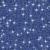 Blue shine glitter vector background, sparkle abstract seamless pattern, glowing wallpaper Royalty Free Stock Photography