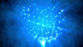 Blue shine heart shape background stock video footage