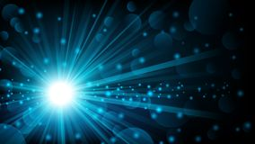 Blue shine with lens flare background Stock Photography