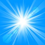 Blue shine with lens flare from darkness background. Vector illustration of Blue shine with lens flare from darkness background Royalty Free Stock Photography