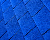 Blue shingle roofing. Abstract texture Stock Photography