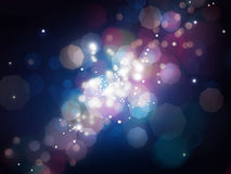 Blue shining blur lights background Royalty Free Stock Image