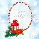Blue shining Christmass background with flashlight Stock Image