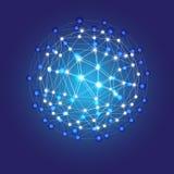 Blue shining cosmic grid Stock Image