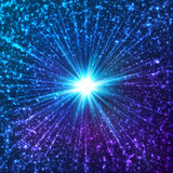 Blue shining cosmic vector stars Stock Image