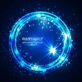 Blue shining glitter vector star dust and line frame vector illustration