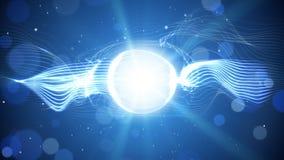 Blue shining light futuristic background Royalty Free Stock Photo