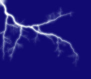Blue shining lightning Royalty Free Stock Image