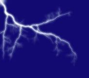 Blue shining lightning royalty free stock image