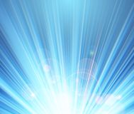 Blue shining magic light background Royalty Free Stock Photos