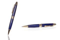 Blue shining pen Stock Photography