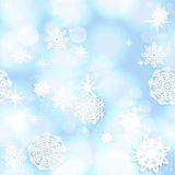 Blue shining seamless Christmas background Royalty Free Stock Images