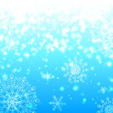 Blue shining snowflakes christmas background Royalty Free Stock Images