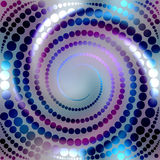 Blue shining spiral Stock Photo