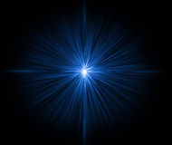 Blue shining Star Stock Photography