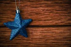 Blue shining star Stock Image