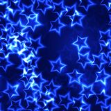 Blue shining stars christmas seamless background Royalty Free Stock Photo