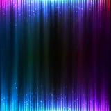 Blue shining technology lights sound background Stock Photography
