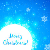 Blue shining vector Christmas greeting card Royalty Free Stock Images