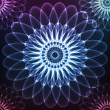 Blue shining vector cosmic flower Royalty Free Stock Photo
