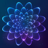 Blue shining vector cosmic flower Royalty Free Stock Photos
