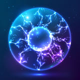 Blue Shining Vector Plasma Ball Stock Images