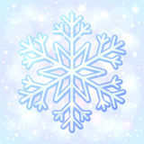 Blue shining vector snowflake Royalty Free Stock Photo