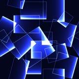 Blue shinning ice blocks on dark background -seamless background Stock Photography