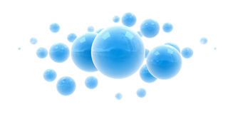 Blue shinny spheres Royalty Free Stock Photos