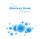 Blue shinny spheres Stock Image