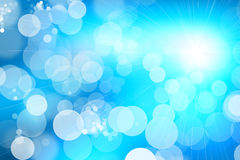 Blue shiny abstract background. Abstract background with shining light Stock Photo