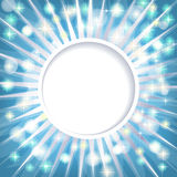 Blue shiny abstract card background Royalty Free Stock Image