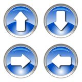 Blue shiny arrow icons Stock Image
