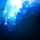 Blue shiny background. Vector shiny blue background with space for your text Stock Photography