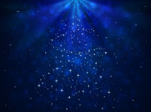 Blue shiny background with stars royalty free illustration