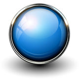 Blue shiny button Royalty Free Stock Photo
