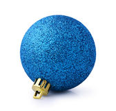 Blue shiny Christmas ball Royalty Free Stock Photography