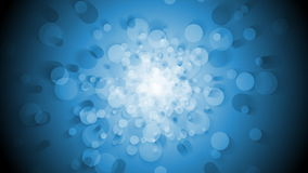 Blue shiny circles rotation and motion video loop animation stock footage