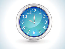 Blue shiny clock icon vector illustration
