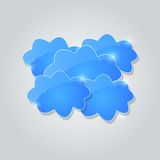 Blue Shiny Cloud Group Card Royalty Free Stock Images